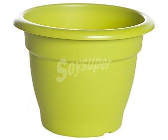 VAN Maceta plástica de tipo campana de color pistacho y medidas de 25 x 23 centímetros 1 unidad