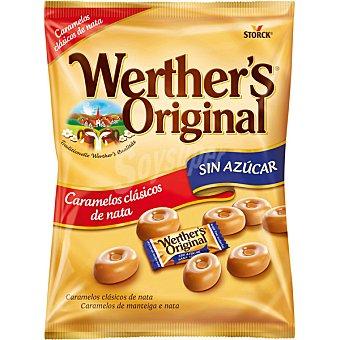Werther's Original Caramelos clásicos de mantequilla y nata sin azúcar Bolsa 90 g