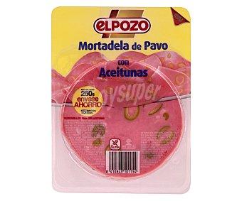 EL POZO Mortadela de pavo con aceitunas 250 gramos