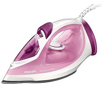 Philips Plancha de vapor easyspeed GC2042/40, suela cerámica, potencia 2100W