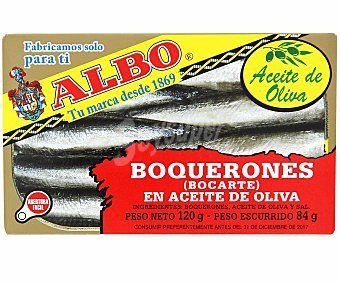 Albo Boquerones (bocarte) en aceite de oliva Lata 84 g neto escurrido