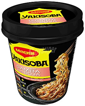 Maggi yakisoba fideos orientales sabor gamba soja  vaso 80 g