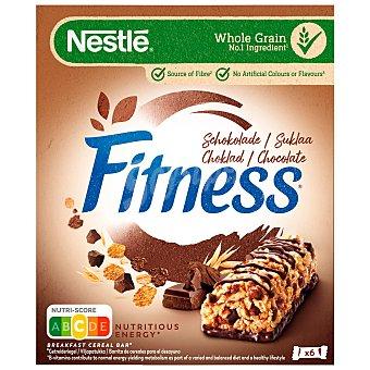 Fitness Nestlé Cereales en barrita con chocolate fitness 6 uds x 23,5 g