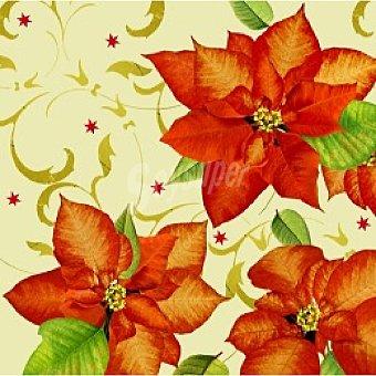 PAP STAR servilletas Christmas Flower 3 capas 33x33 cm  paquete 20 unidades