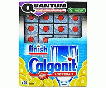 Finish Quantum Detergente Lavavajillas Limón 40 pastillas