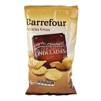 Carrefour Patatas fritas onduladas corte rústico 160 g