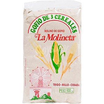 LA MOLINETA Gofio 3 cereales bolsa 500 g Bolsa 500 g
