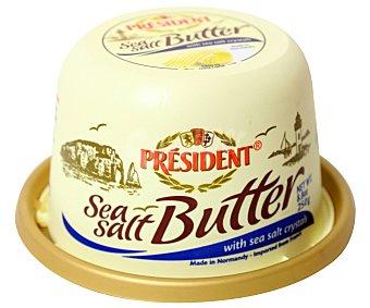 President Mantequilla la motte con granos de sal de mar 250 g
