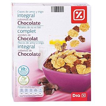DIA Cereales copos de arroz y trigo integral cubiertos de chocolate 300gr 300gr