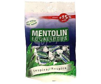 Mentolín Caramelos con sabor a eucalipto sin azúcar con edulcorantes 115 Gramos