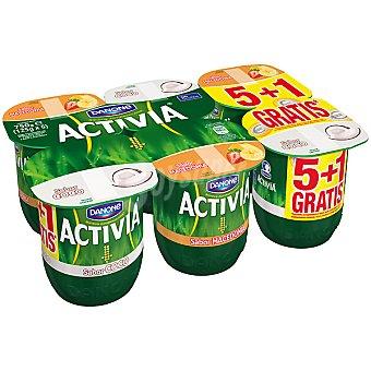 Danone Activia Yogur 3 sabor coco + 3 sabor macedonia pack 5 unidades 125 g + 1 gratis Pack 5 unidades 125 g