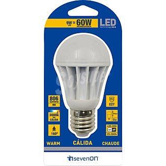 SEVENON 9 W (60 W) lampara LED esferica luz calida casquillo E27