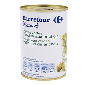 Carrefour Discount Aceitunas rellenas de anchoa 120 g