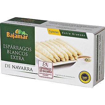 Bajamar Espárragos blancos extra gruesos 5 piezas D.O. Navarra Lata 250 g neto escurrido