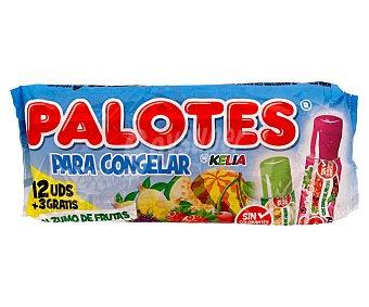 PALOTES Bebidas refrescantes aromatizada (golosinas para congelar con zumo de fruta) 12 unidades