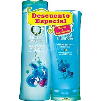 Herbal Essences Champú hidratación profunda con extracto de orquídea y coco + acondicionador hidratación profunda frasco 250 ml (pack precio especial) Frasco 300 ml