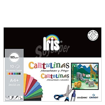 Canson Cartulinas de colores minipack A4 Pack 10 uds