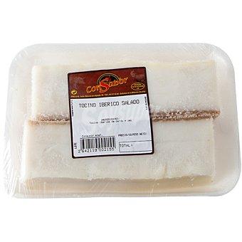 CONSABOR Tocino salado de cerdo peso aproximado bandeja 450 g