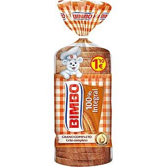 Bimbo pan de molde 100% integral grano completo con corteza bolsa 00460 g