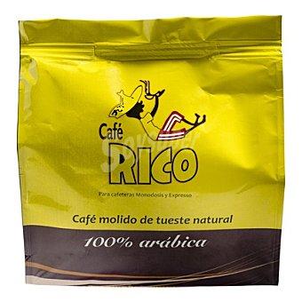 Rico Café molido de tueste natural 100% arábica monodosis 16 ud