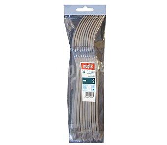Nupik Tenedores desechables fabricados en plástico color plata 10 unidades