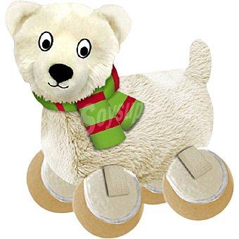 KONG Juguete para perro modelo peluche oso polar Navidad con pelotas en las patas  1 unidad