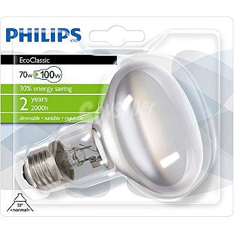 Philips (100 W) lámpara eco halógena casquillo E27 (grueso) 230 V Ecoclassic 70 W 1 unidad