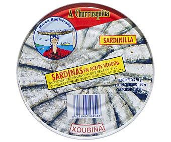 A.CHURRISQUIÑA Sardinilla en Aceite Vegetal 180 Gramos