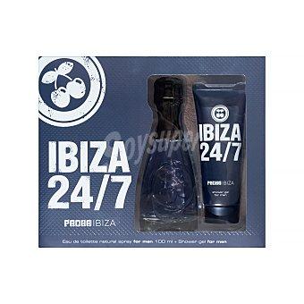 Pachá Ibiza Lote hombre 24/7 eau de toilette (100 ml) + gel baño (75 ml) Pack 2 u