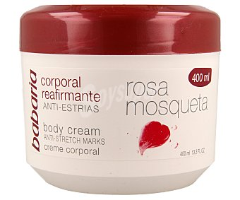 Babaria Rosa mosqueta crema reafirmante anti-estrias tarro 400 400 ml