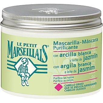 Le Petit Marseillais Mascarilla purificante con arcilla blanca y leche de jazmín para cabello graso Tarro 300 ml