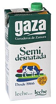 Gaza Leche Semidesnatada Brik 1 litro