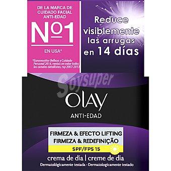 Olay Anti-edad Firmeza & Efecto Lifting 2 en 1 crema reafirmante de día FPS-15 Tarro 50 ml