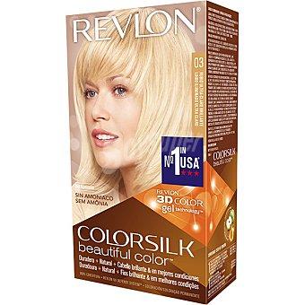 REVLON COLORSILK tinte Rubio Ultra Claro Brillante nº 03 permanente y sin amoniaco  caja 1 unidad