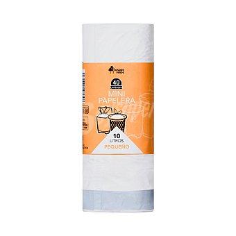 Bosque Verde Bolsa basura mini aroma limon cierre facil 45 x 47 - cubo baño (blanca) - 10 L 40 bolsas