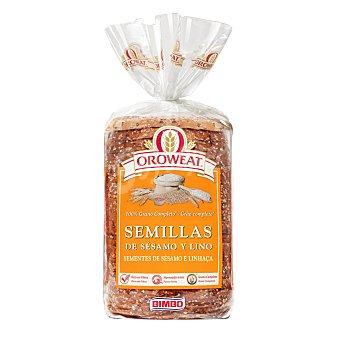 Oroweat Bimbo Pan de molde con semillas de sesamo y lino 680 gr