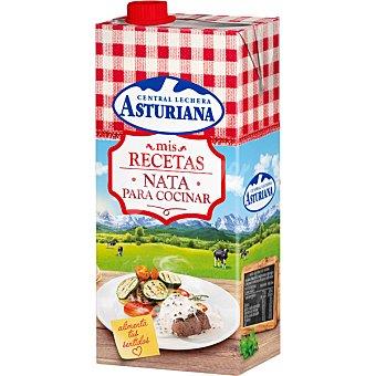 Central Lechera Asturiana Nata líquida para cocinar UHT ligera 18% materia grasa Envase 1 l
