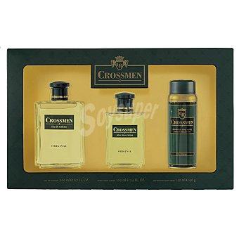 Crossmen Lote hombre eau toilette 200 ml + desodorante 150 ml + after shave 100 ml Caja 1 u