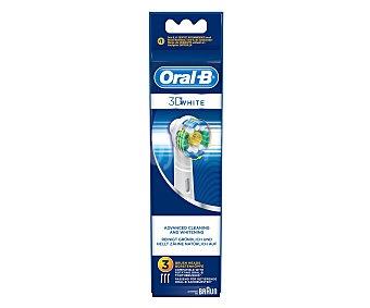 Oral-B Recambio cepillo dental profesional 3D white 3 Unidades