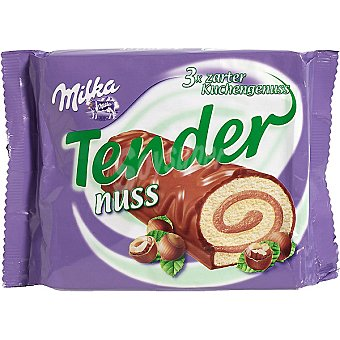 MILKA Tender Pastelitos de chocolate con avellana Pack 3 unds. 37 g