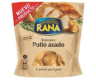 Rana Raviolis de pasta fresca, rellenos de riquísima carne de pollo asado 250 g