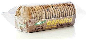 BIOCOP Galletas de espelta con pepitas de chocolate tipo María ecológicas Envase 200 g