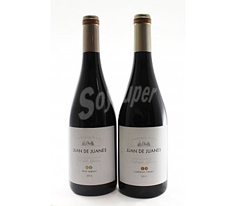 JUAN DE JUANES Vino tinto Petit Verdot Botella de 75 Centilitros