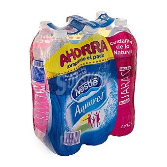 Aquarel Nestlé Agua mineral Pack 6x1,5 litros