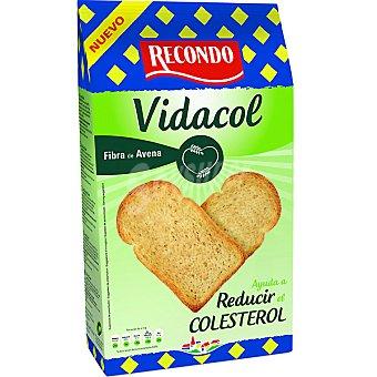 RECONDO VIDACOL pan tostado con fibra de avena 30 rebanadas ayuda a reducir el colesterol Paquete 270 g