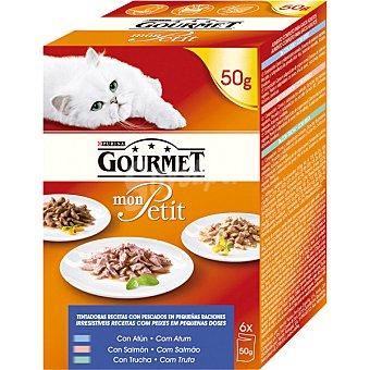 Gourmet Mon Petit Recetas con pescados para gatos en pequeñas raciones Pack 6 unidades 50 g