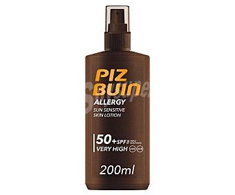 PIZ BUIN Allergy Protector solar en spray con FPS 50+ (muy alto), especial pieles sensibles al sol 200 ml