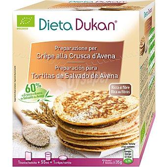 Dieta Dunkan Preparación para tortitas de salvado de avena Envase 250 g