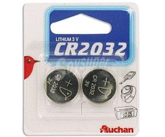 Auchan Pilas litio CR2032 2 unidades