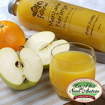 BE FRESH Zumo de naranja y manzana Botella de 1 litro